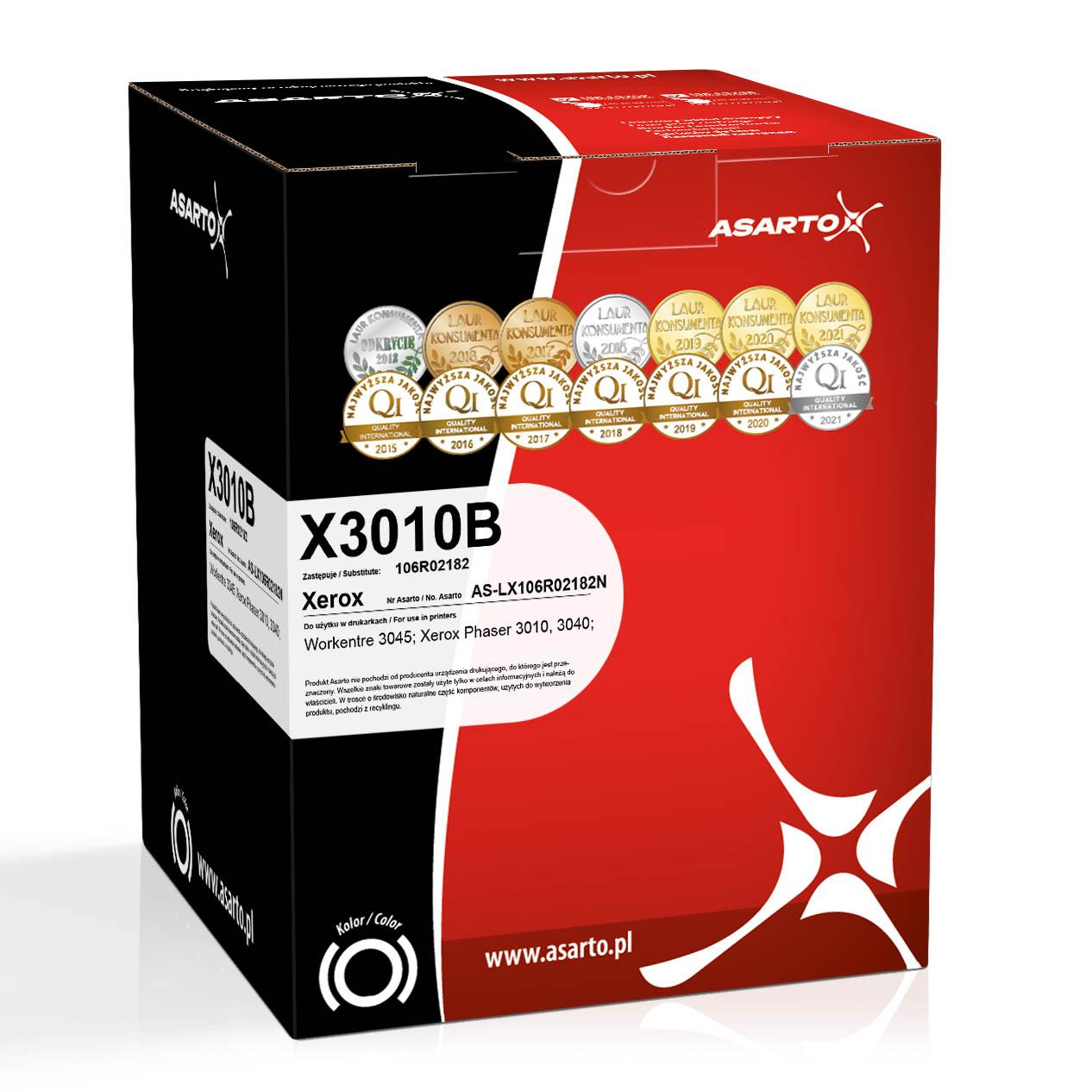 Toner Asarto do Xerox X3010B | 106R02182 | 2300 str. | black