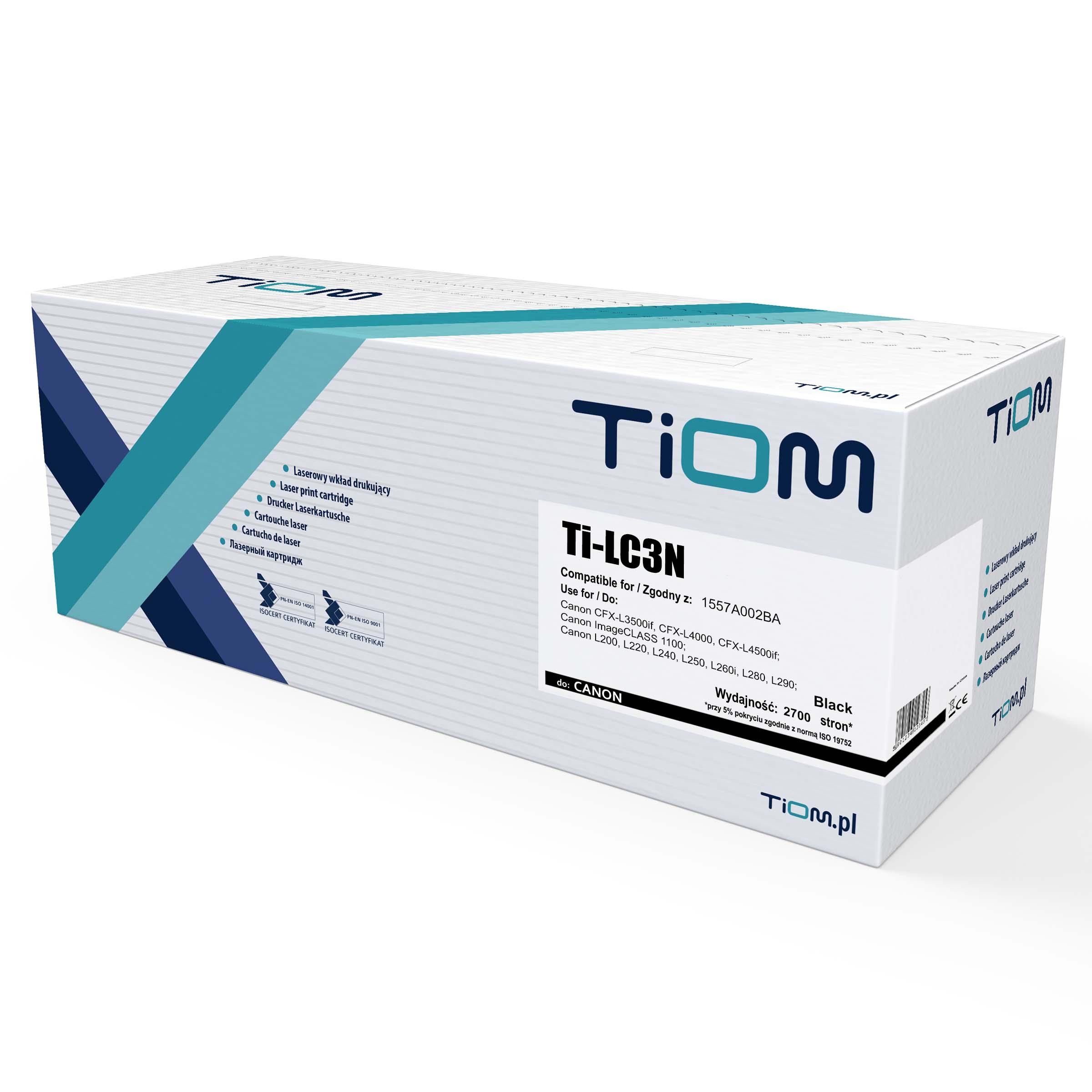Toner Tiom do Canon FX3 | 1557A002BA | 2700 str. | black